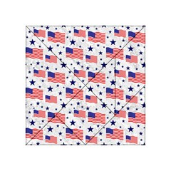 Flag Of The Usa Pattern Acrylic Tangram Puzzle (4  X 4 ) by EDDArt