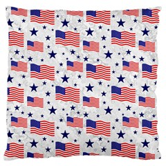Flag Of The Usa Pattern Large Cushion Case (two Sides) by EDDArt