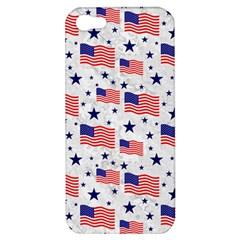 Flag Of The Usa Pattern Apple Iphone 5 Hardshell Case by EDDArt