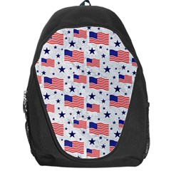 Flag Of The Usa Pattern Backpack Bag by EDDArt