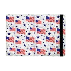 Flag Of The Usa Pattern Apple Ipad Mini Flip Case by EDDArt