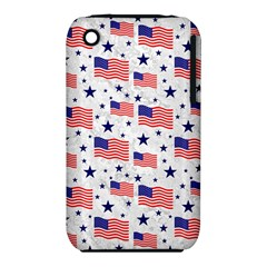 Flag Of The Usa Pattern Iphone 3s/3gs by EDDArt