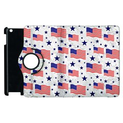 Flag Of The Usa Pattern Apple Ipad 2 Flip 360 Case by EDDArt