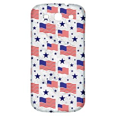 Flag Of The Usa Pattern Samsung Galaxy S3 S Iii Classic Hardshell Back Case by EDDArt