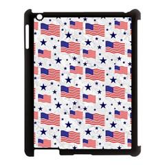 Flag Of The Usa Pattern Apple Ipad 3/4 Case (black) by EDDArt