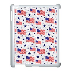Flag Of The Usa Pattern Apple Ipad 3/4 Case (white) by EDDArt