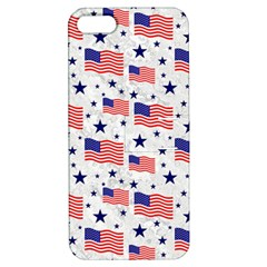 Flag Of The Usa Pattern Apple Iphone 5 Hardshell Case With Stand by EDDArt
