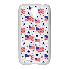 Flag Of The Usa Pattern Samsung Galaxy S4 I9500/ I9505 Case (white) by EDDArt