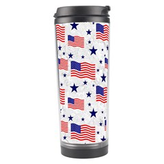 Flag Of The Usa Pattern Travel Tumbler by EDDArt