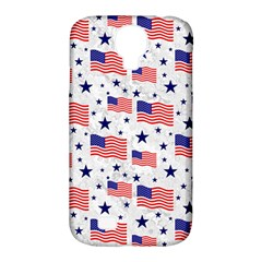 Flag Of The Usa Pattern Samsung Galaxy S4 Classic Hardshell Case (pc+silicone) by EDDArt