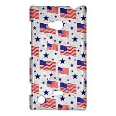 Flag Of The Usa Pattern Nokia Lumia 720 by EDDArt