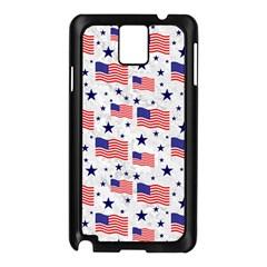 Flag Of The Usa Pattern Samsung Galaxy Note 3 N9005 Case (black) by EDDArt
