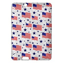 Flag Of The Usa Pattern Kindle Fire Hdx Hardshell Case by EDDArt