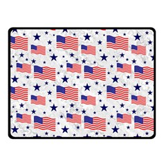 Flag Of The Usa Pattern Double Sided Fleece Blanket (small)  by EDDArt