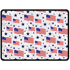 Flag Of The Usa Pattern Double Sided Fleece Blanket (large)  by EDDArt
