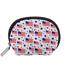 Flag Of The Usa Pattern Accessory Pouches (small)  by EDDArt