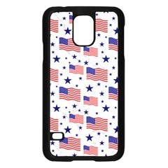 Flag Of The Usa Pattern Samsung Galaxy S5 Case (black) by EDDArt