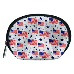 Flag Of The Usa Pattern Accessory Pouches (medium)  by EDDArt