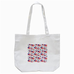 Flag Of The Usa Pattern Tote Bag (white) by EDDArt