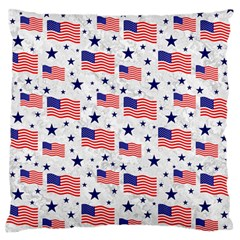 Flag Of The Usa Pattern Standard Flano Cushion Case (two Sides) by EDDArt