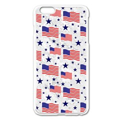 Flag Of The Usa Pattern Apple Iphone 6 Plus/6s Plus Enamel White Case by EDDArt
