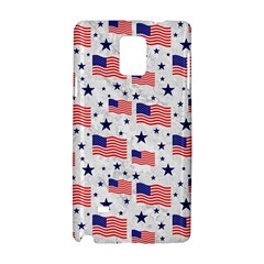 Flag Of The Usa Pattern Samsung Galaxy Note 4 Hardshell Case by EDDArt