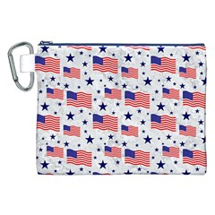 Flag Of The Usa Pattern Canvas Cosmetic Bag (xxl) by EDDArt