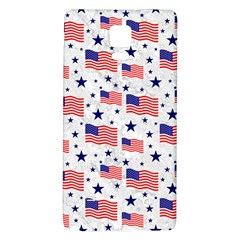 Flag Of The Usa Pattern Galaxy Note 4 Back Case by EDDArt