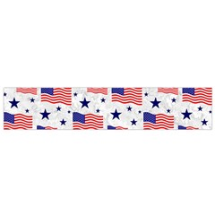 Flag Of The Usa Pattern Flano Scarf (small) by EDDArt