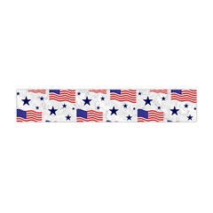 Flag Of The Usa Pattern Flano Scarf (mini) by EDDArt