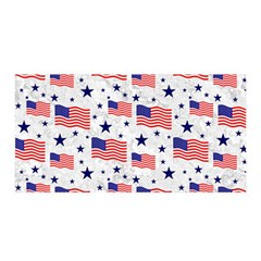 Flag Of The Usa Pattern Satin Wrap by EDDArt