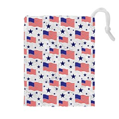 Flag Of The Usa Pattern Drawstring Pouches (extra Large) by EDDArt