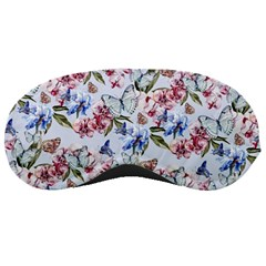 Watercolor Flowers Butterflies Pattern Blue Red Sleeping Masks by EDDArt
