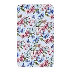 Watercolor Flowers Butterflies Pattern Blue Red Memory Card Reader by EDDArt