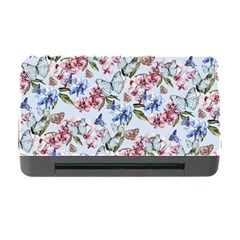 Watercolor Flowers Butterflies Pattern Blue Red Memory Card Reader With Cf by EDDArt