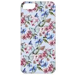 Watercolor Flowers Butterflies Pattern Blue Red Apple Iphone 5 Classic Hardshell Case by EDDArt
