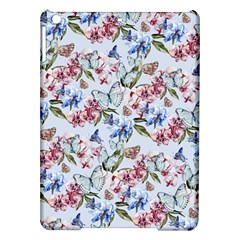 Watercolor Flowers Butterflies Pattern Blue Red Ipad Air Hardshell Cases by EDDArt