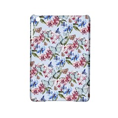 Watercolor Flowers Butterflies Pattern Blue Red Ipad Mini 2 Hardshell Cases by EDDArt