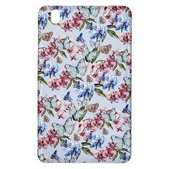 Watercolor Flowers Butterflies Pattern Blue Red Samsung Galaxy Tab Pro 8 4 Hardshell Case by EDDArt