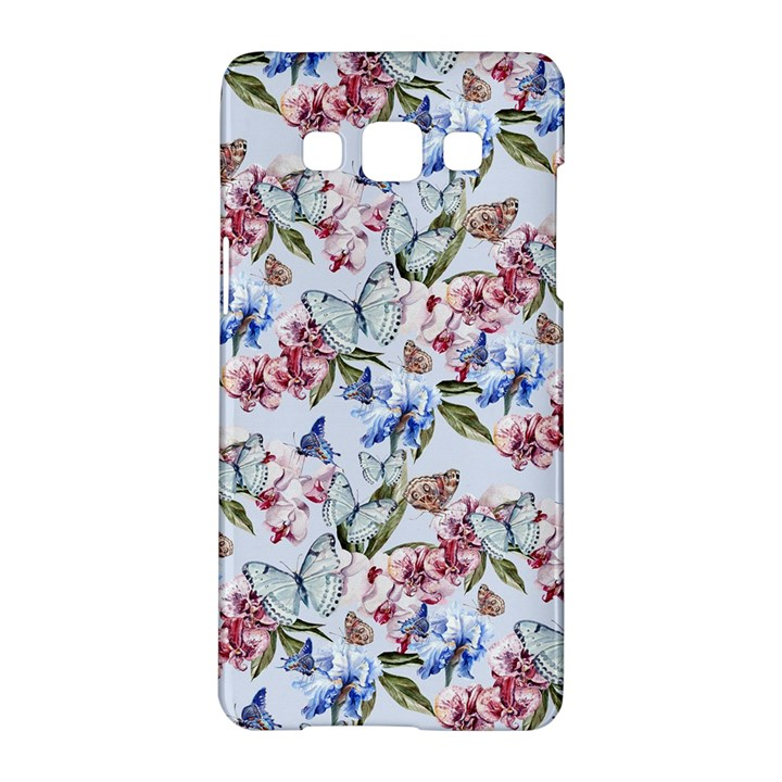 Watercolor Flowers Butterflies Pattern Blue Red Samsung Galaxy A5 Hardshell Case