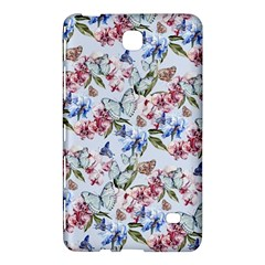 Watercolor Flowers Butterflies Pattern Blue Red Samsung Galaxy Tab 4 (8 ) Hardshell Case  by EDDArt