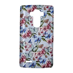 Watercolor Flowers Butterflies Pattern Blue Red Lg G4 Hardshell Case by EDDArt