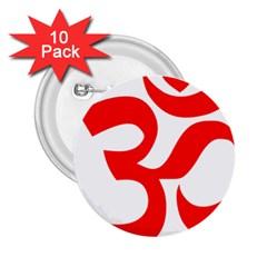 Hindu Om Symbol 2 25  Buttons (10 Pack)  by abbeyz71