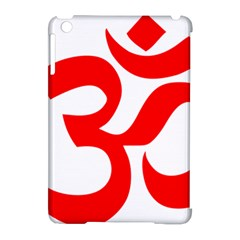 Hindu Om Symbol Apple Ipad Mini Hardshell Case (compatible With Smart Cover) by abbeyz71