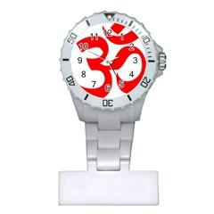 Hindu Om Symbol Plastic Nurses Watch by abbeyz71