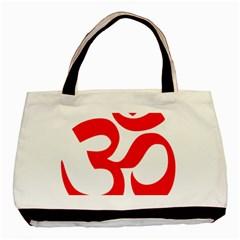 Hindu Om Symbol Basic Tote Bag by abbeyz71