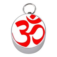 Hindu Om Symbol Mini Silver Compasses by abbeyz71