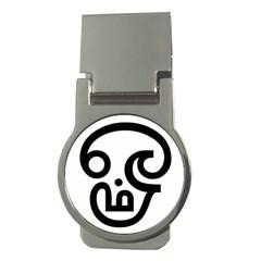 Hindu Om Symbol In Tamil  Money Clips (round)
