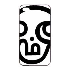 Hindu Om Symbol In Tamil  Apple Iphone 4/4s Seamless Case (black) by abbeyz71