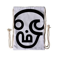 Hindu Om Symbol In Tamil  Drawstring Bag (small) by abbeyz71